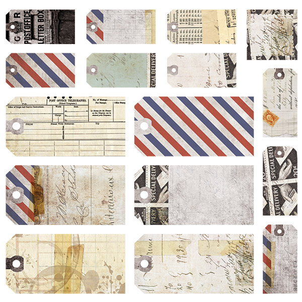 Air Mail - Tags 12x12