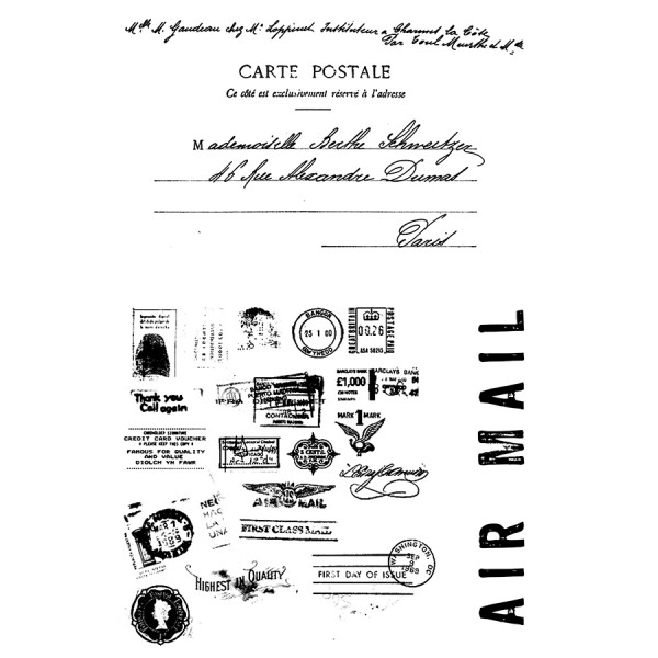 Air Mail - Clear Stamps