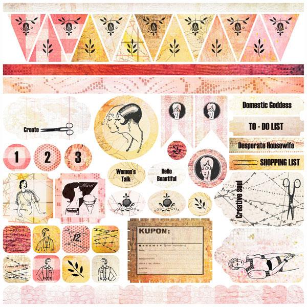 Domestic Goddess - Stickers 12x12