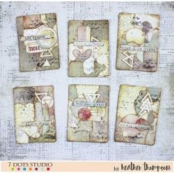 Fun and bright set of ATCs by Heather Thompson