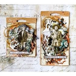 Vintage style tags by Ola Khomenok