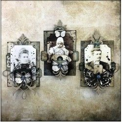 Vintage Look ATC by Louise Nelson