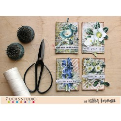 Vintage Flowers ATC by Riikka Kovasin