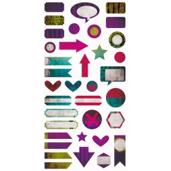 Paint Chips - Die-cut Elements 6x12