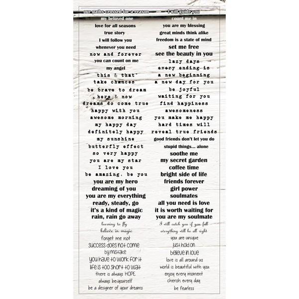 Verano Azul - Word Stickers 6x12